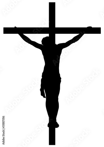 Leinwand Poster Jesus Christ Crucifiction Silhouette
