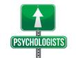 psychologists road sign illustration design