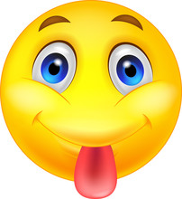 Smiley Emoticon Sticking Out H...