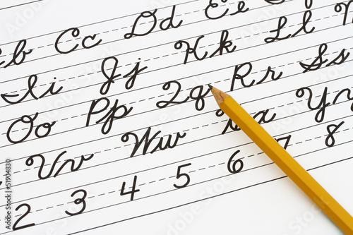 Fotografia Learning cursive writing