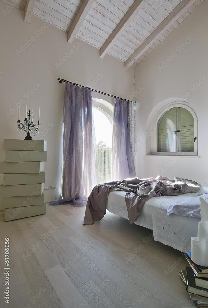 camera da letto moderna in mansarda Foto, Poster, Wandbilder ...