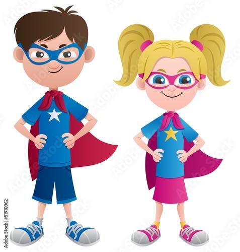 Poster Superheroes Super Kids