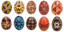 Colorful Easter Eggs With Pattern For Background