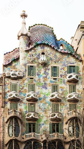 Casa Batllo  by Catalan architect Antoni Gaudi. Barcelona Wallpaper Mural