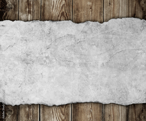 Old paper on the wood background - 51929041