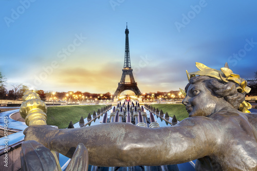 Papiers peints Jardin Tour Eiffel Paris