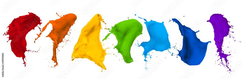 Fototapeta paint splash collection
