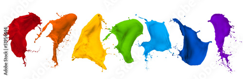 Acrylic Prints Form paint splash collection