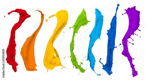 Keuken foto achterwand Vormen paint splash collection