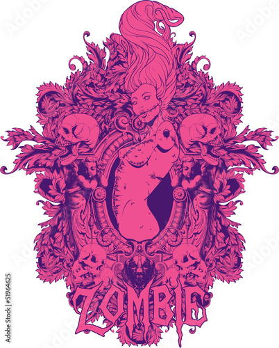 Pink zombie