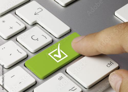 Fotografie, Obraz  Check mark keyboard
