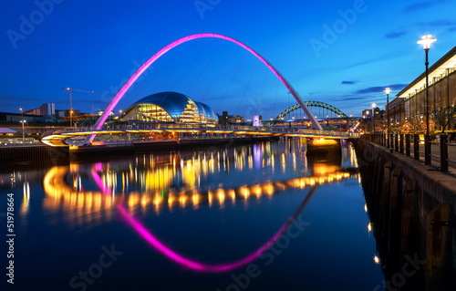 Spoed Foto op Canvas Brug Millennium Bridge Newcastle