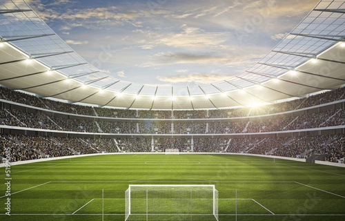 Foto-Flächenvorhang ohne Schienensystem - Stadion 4