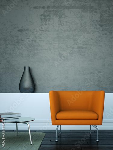 Fotografie, Obraz  Wohndesign - Sessel in Stadtwohnung