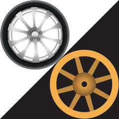 Two different wheels