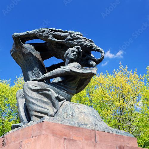 obraz lub plakat Pomnik Fryderyka Chopina w Warszawie