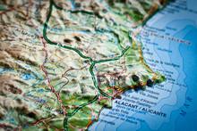 Mapa De Carreteras De Costa Blanca, Alicante, España