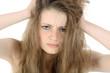 canvas print picture - Jugendliche rauft sich die Haare