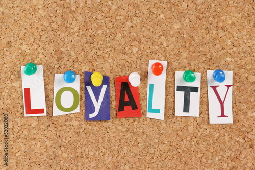 The word loyalty in cut out magazine letters buy this stock photo the word loyalty in cut out magazine letters spiritdancerdesigns Choice Image