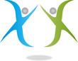 Logo, 3D, Menschen, Heilpraktiker, Physiotherapie, Orthopädie