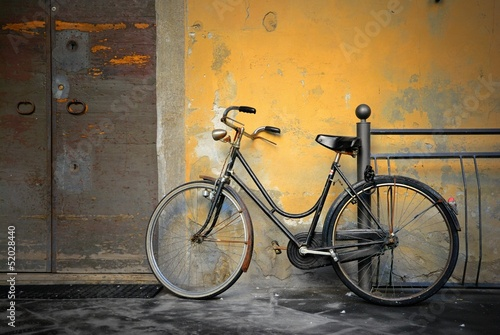 La pose en embrasure Velo Italian old-style bicycle