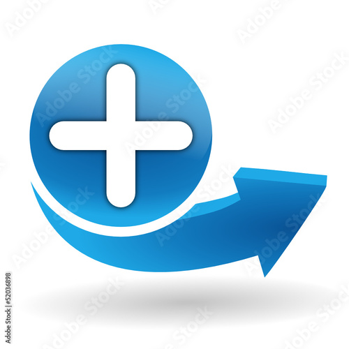 ajouter sur bouton web bleu Canvas Print