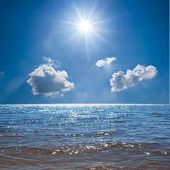 sea under a sparkle sun