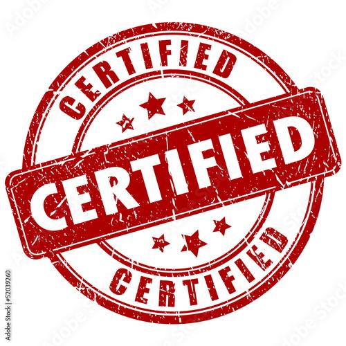 Fotografía  Vector certified stamp
