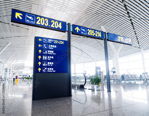 Poster Aeroport Interior of the airport