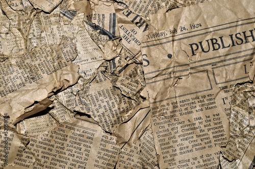 Poster de jardin Journaux Old Newspaper Background