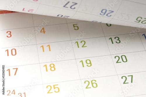 Fotografía  Calendario abierto