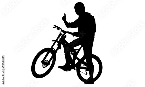 Poster Motorcycle Action bike silhouettes