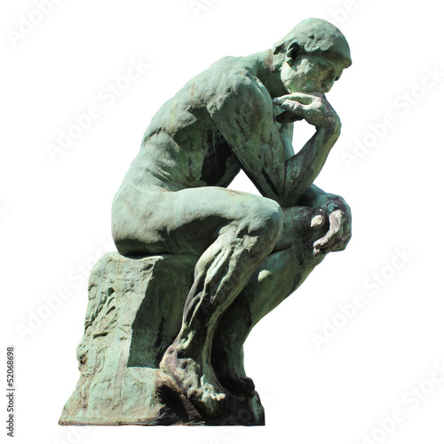 Leinwand Poster Rodins Denker (Laeken - Belgien)