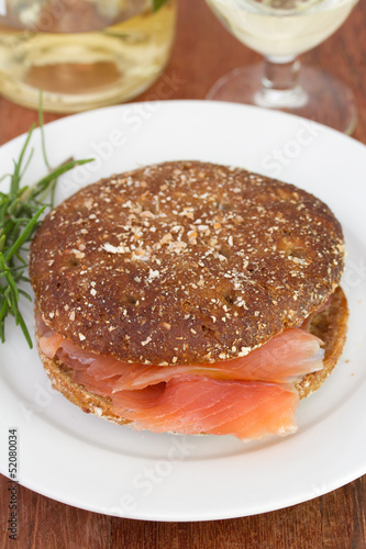 Fotografie, Obraz  sandwich with fish on the plate