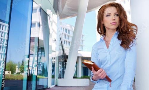 Foto op Plexiglas Stadion Young business woman