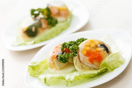 Photo fish in aspic