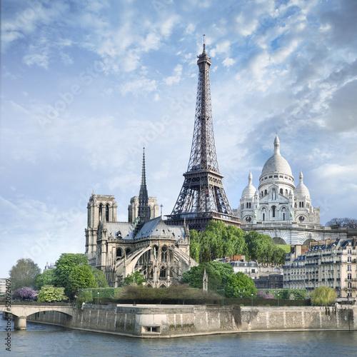Poster Tour Eiffel Paris Panoramique