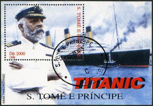 Photo  ST.THOMAS AND PRINCE ISLANDS-1998: Edward John Smith and Titanic