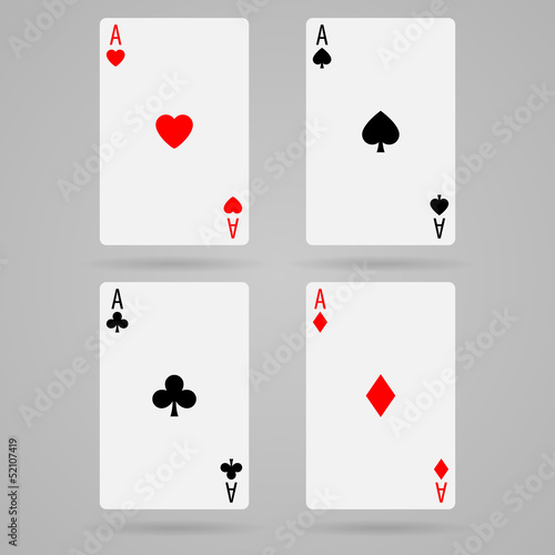 Photo  Vector aces cards