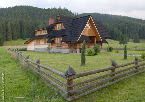 Obraz Wooden house - Tatra mountains Poland - fototapety do salonu