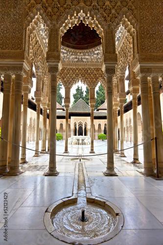 Canvas Print Lions courtyard in Alhambra, Patio de los Leones, Granada
