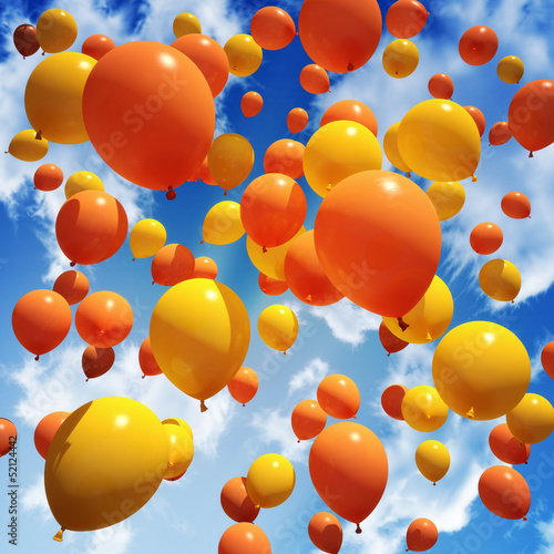 Fotografie, Obraz  Balloon's released into the sky