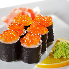 Panel Szklany Sushi Salmon Roe Roll