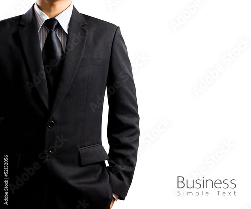 Photo  businessman in suit on white background