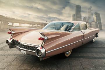 Fototapeta Vintage View of classic vintage car