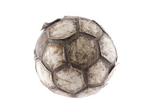 Old Soccer Ball With Clipping ...