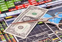 Scissors Cutting  One-dollar  ...