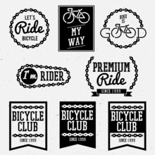 Bicycle Club Badges Back And W...