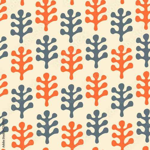Floral decorative seamless texture. Pattern with leafs