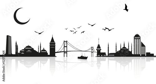 Fotografie, Tablou İstanbul silhouette